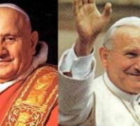 Giovanni Paolo II e Giovanni XXIII Santi